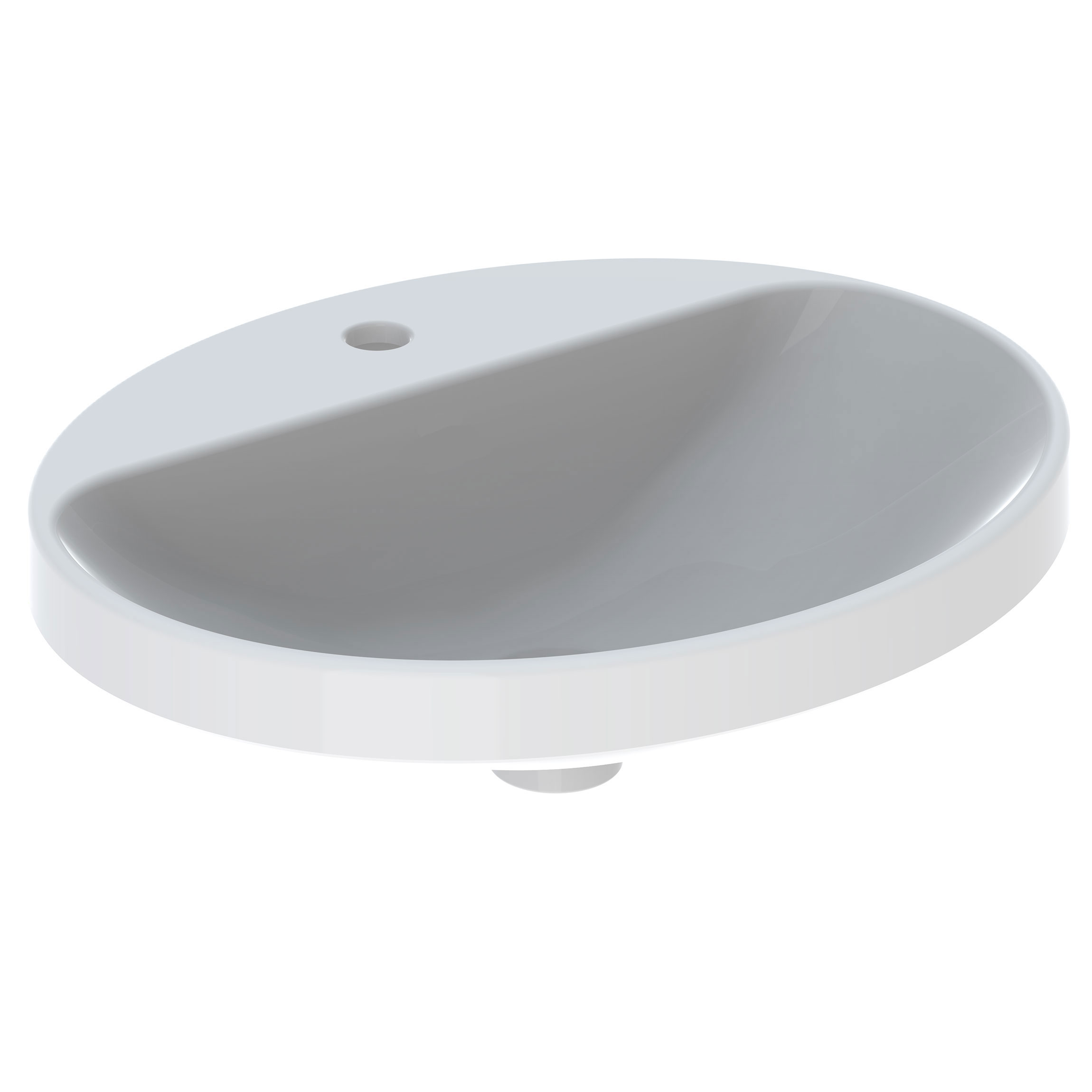 Tvättställ Ifö Variform 550 mm Infälld Ovalt Kanthylla