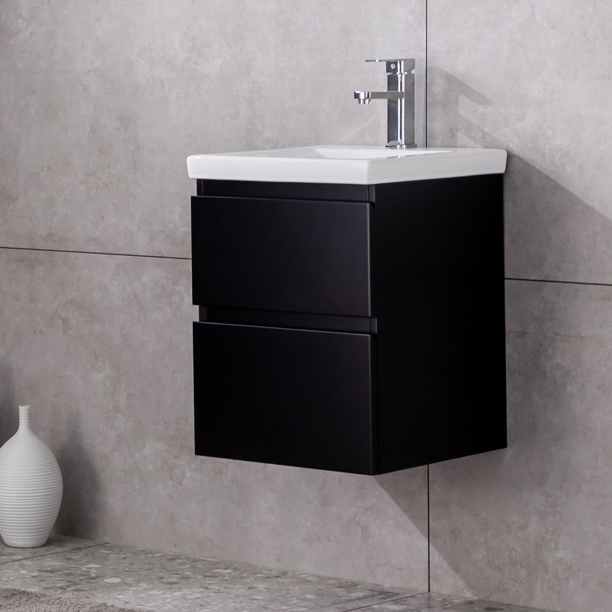 Tvättställsskåp Bathlife Eufori Small Svart