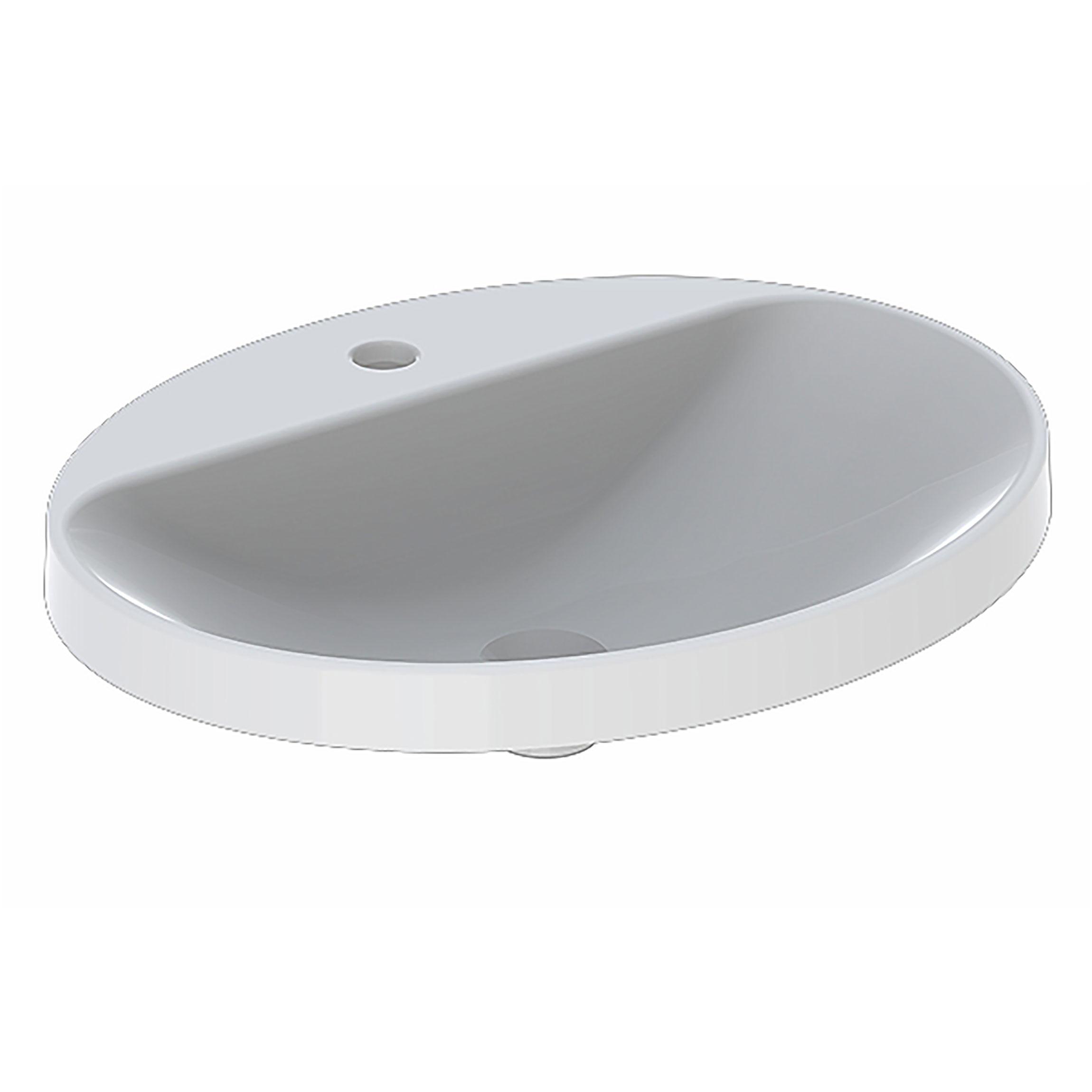 Tvättställ Ifö Variform 600 mm Infälld Ovalt Kanthylla