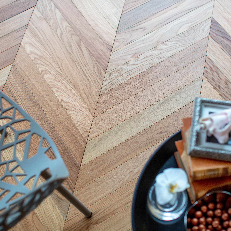 Trägolv Nordic Floor Ek 1-Stav Chevron Natural 45° Fiskben