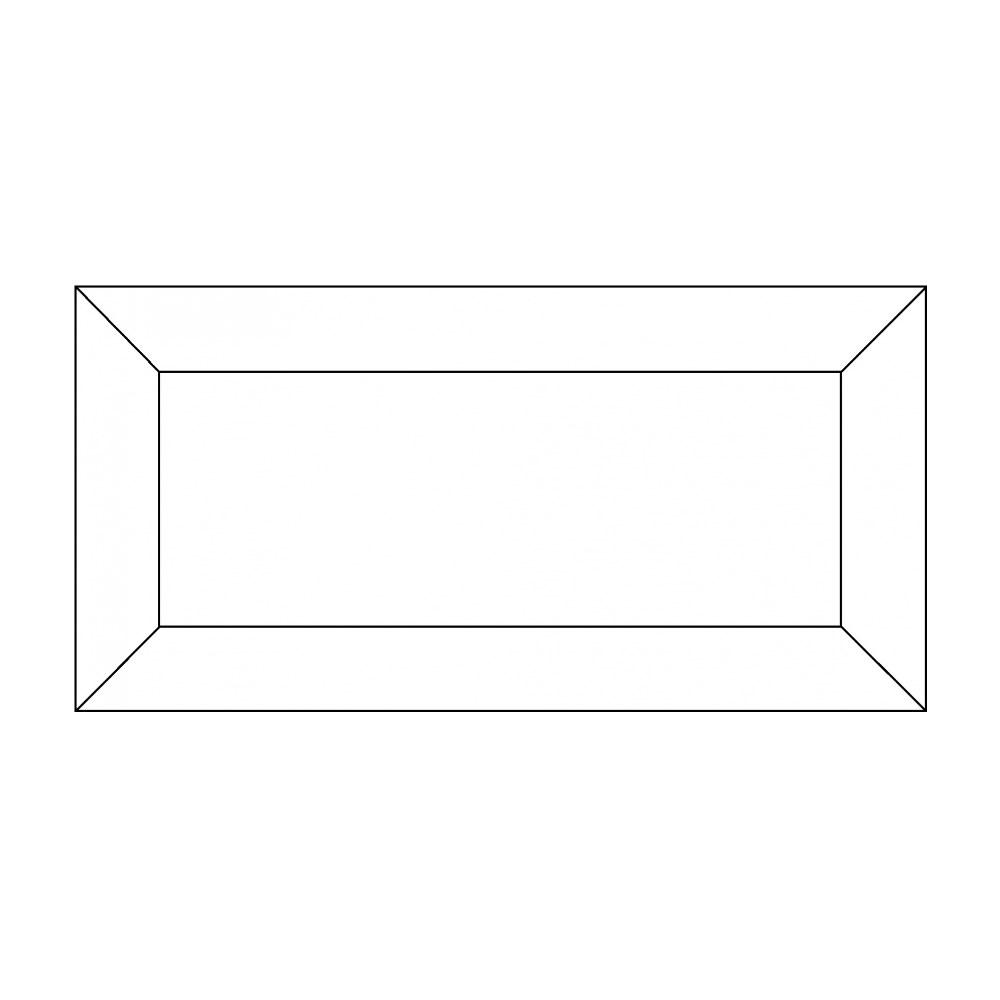 Kakel Bricmate A12 White Gloss Metro 10×20,2 cm