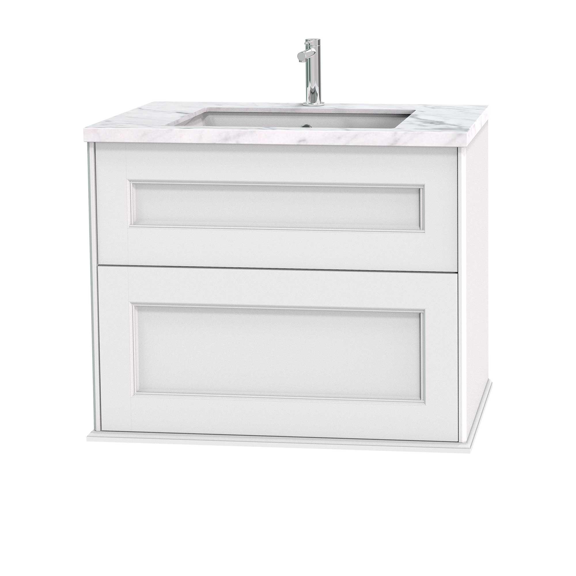 Tvättställsskåp Miller Badrum Kensington 80 med Lådor Vägghängd för Bänkskiva
