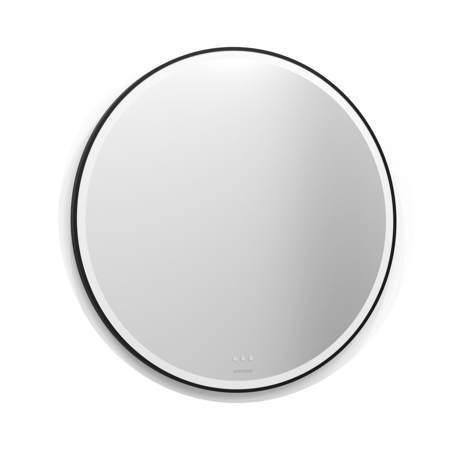 Spegel Svedbergs Ista Rund Ram med LED Belysning