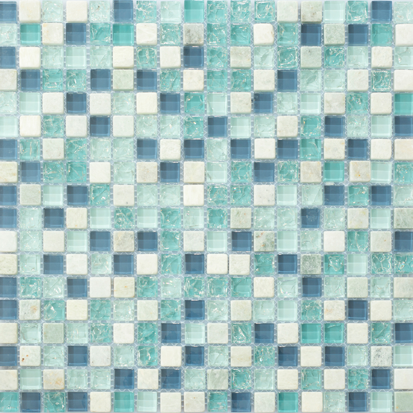 Kristallmosaik Arredo Exclusive Stone Ice Blue 1,5×1,5 cm