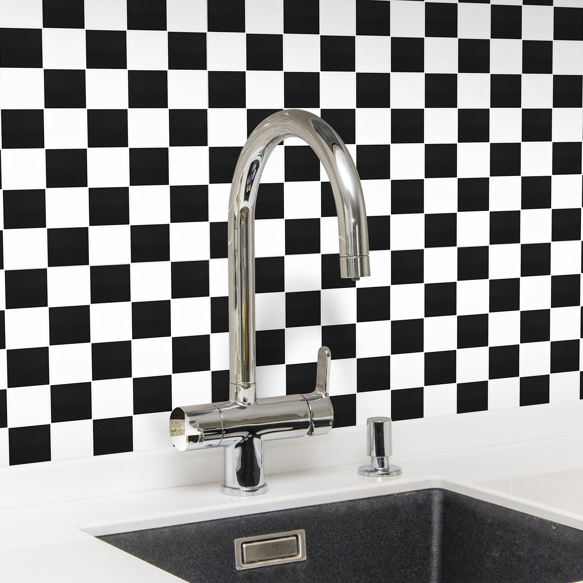 Klinkermosaik Arredo Titan Mix Black/White Blank 5x5 cm