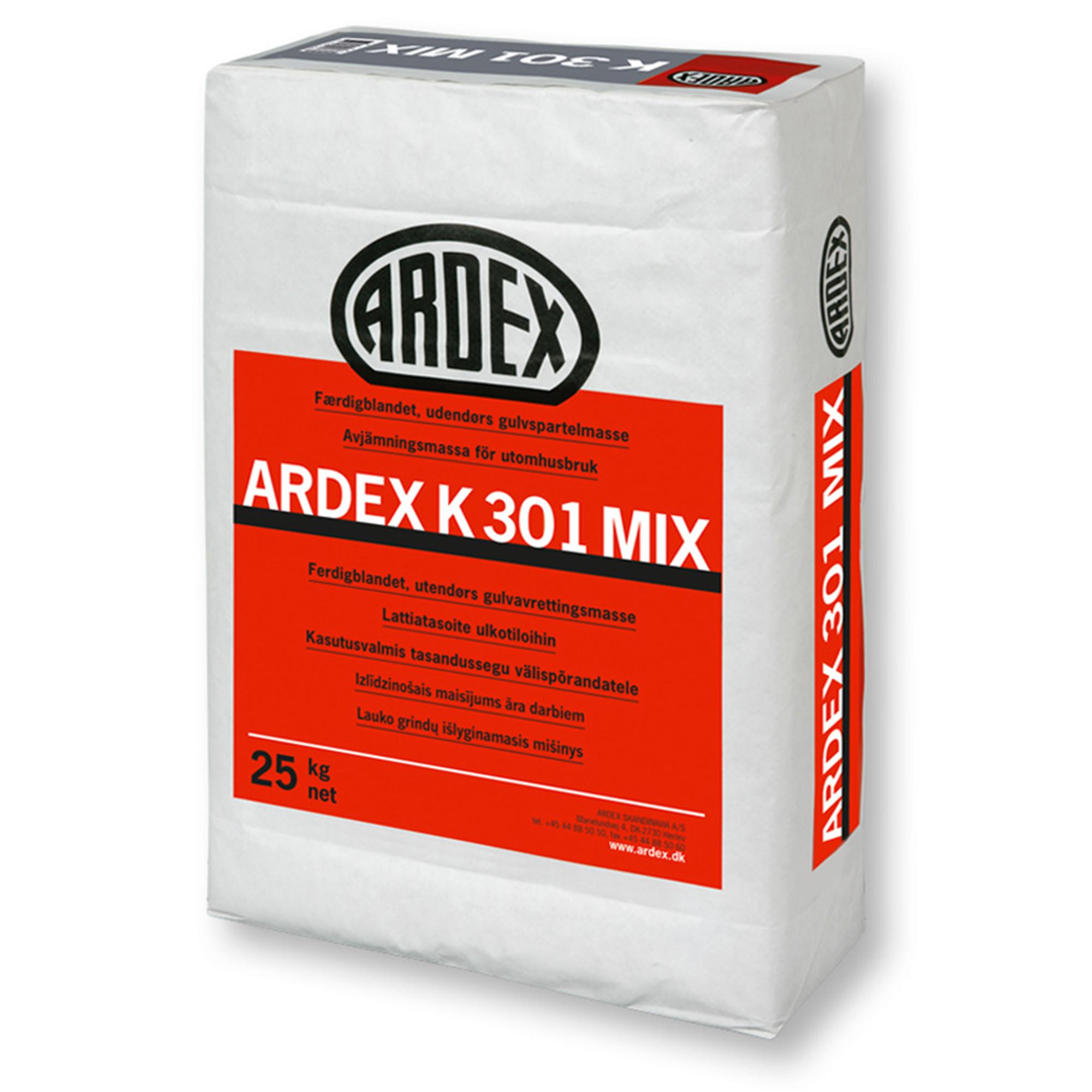 Avjämningsmassa Ardex K301 Mix Grå 25 kg