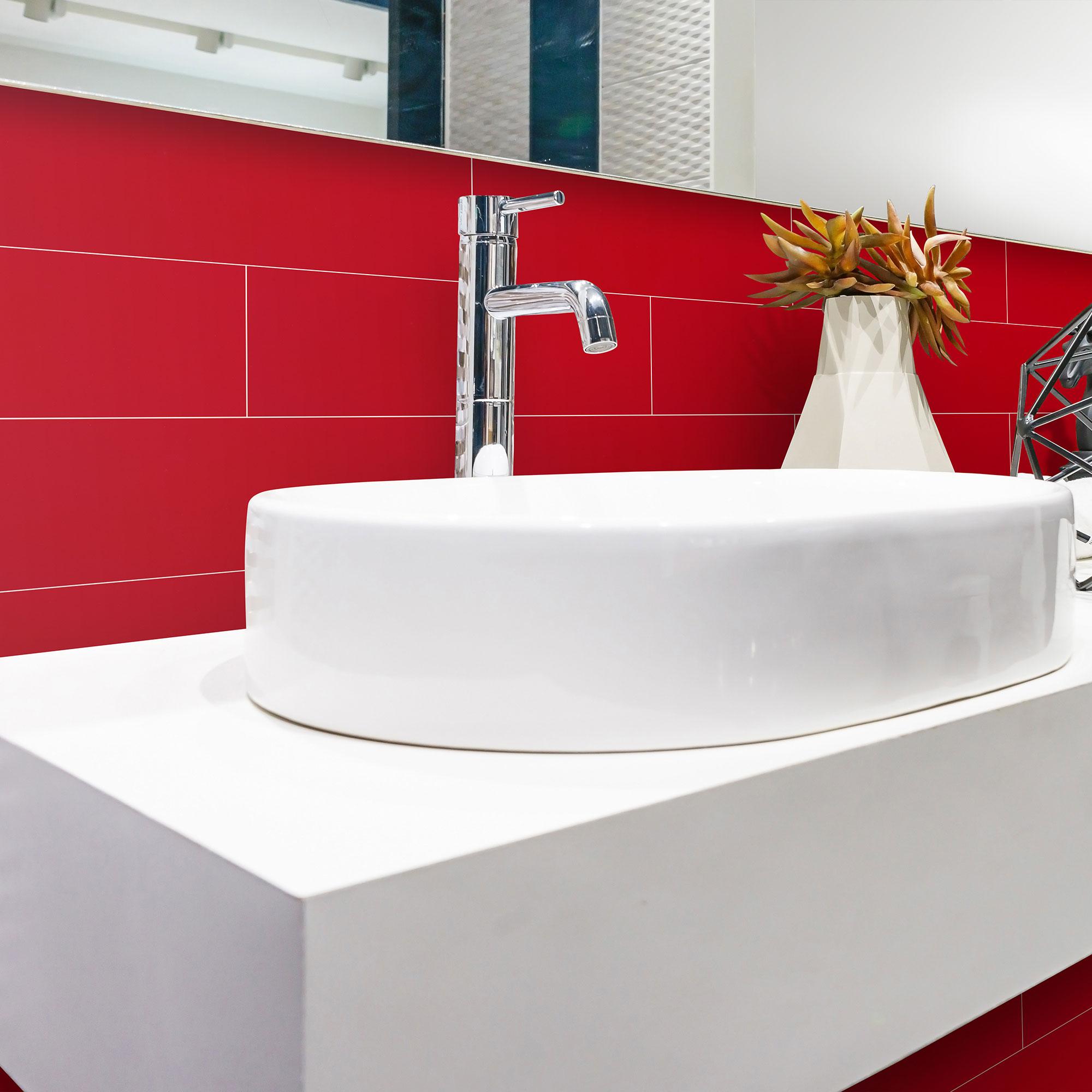 Kakel Arredo Color Rojo Blank 10×30 cm