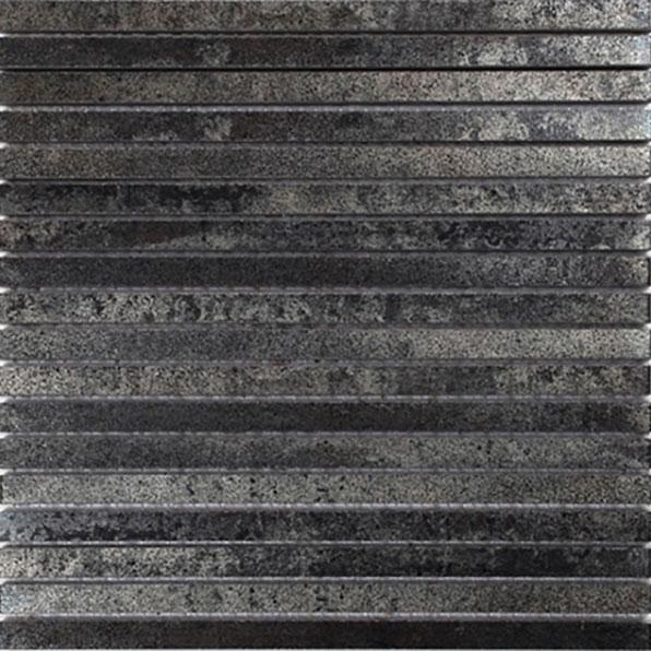 Klinkermosaik Arredo Iron Black Line 1×30 cm