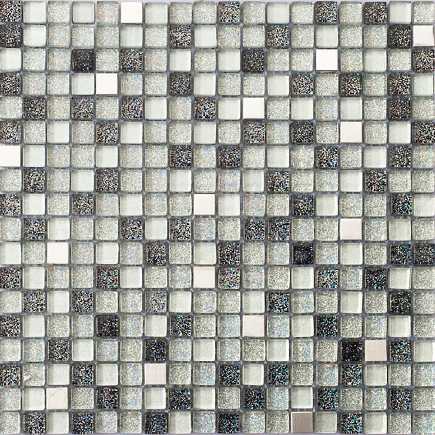 Kristallmosaik Arredo Exclusive Stone silver 1,5×1,5 cm