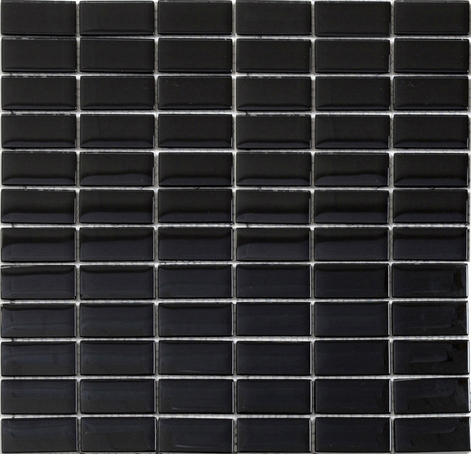 Kristalmosaik Arredo Blank Black 2,3×4,8 cm