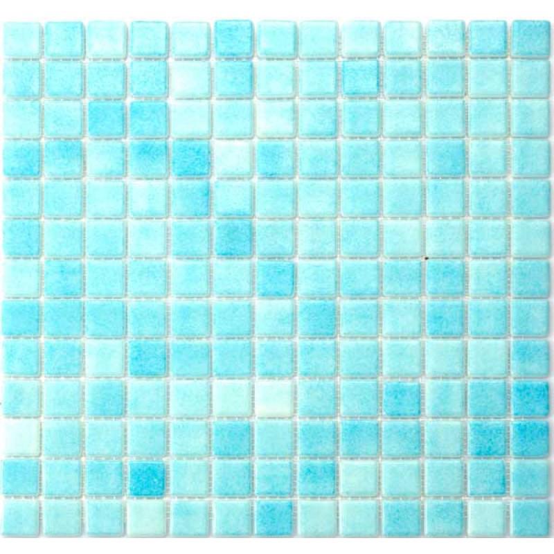 Glasmosaik Azul Celest 3x3 cm