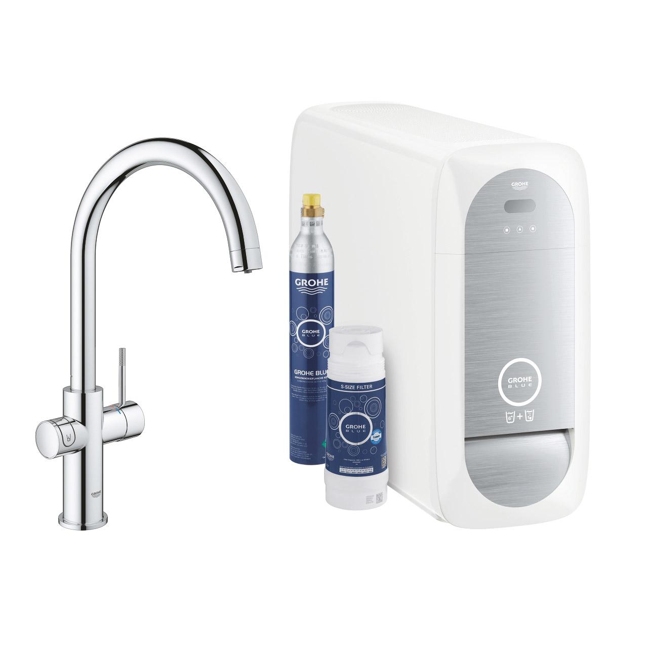 Köksblandare Grohe Blue Home C-pip Starter Kit Bluetooth