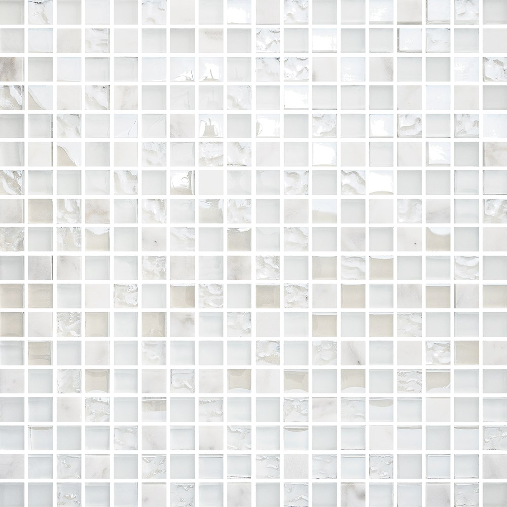 Mosaik Bricmate T1515 White Mix Carrara Glam 1,5×1,5 cm