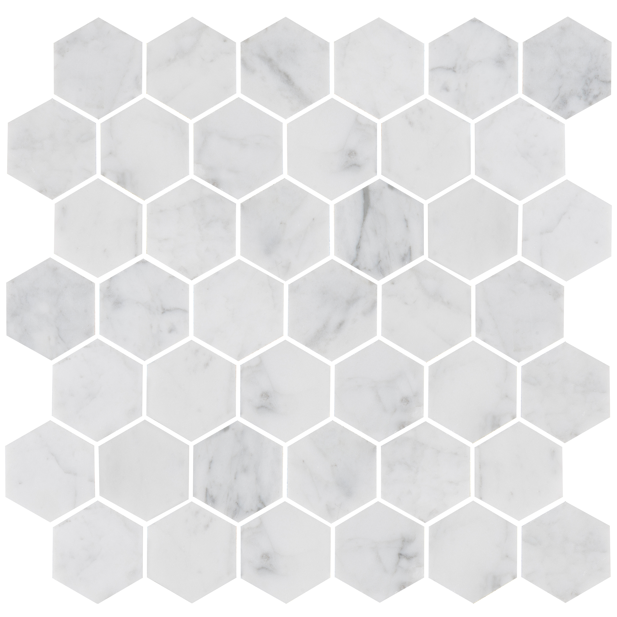 Marmor Bricmate U Hexagon Medium Carrara Honed