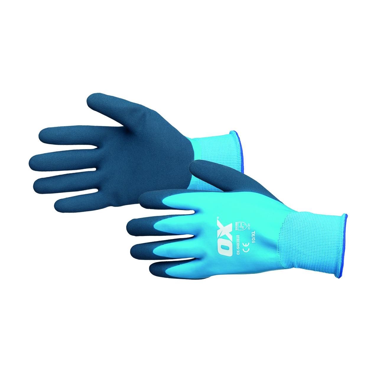 Arbetshandskar Vattentäta Latex Foam OX Tools
