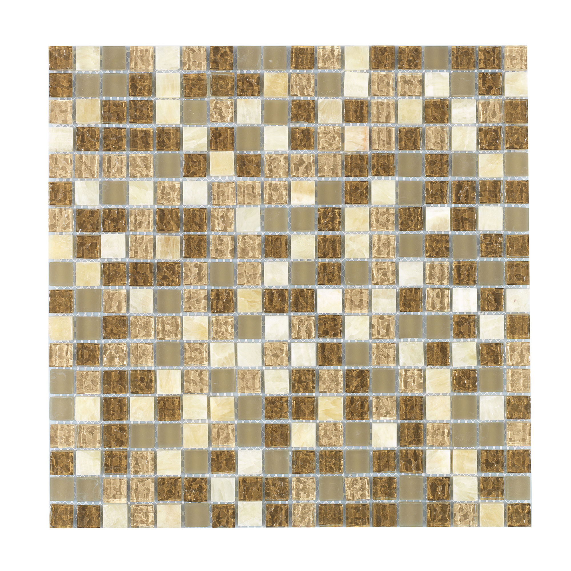 Kristallmosaik Arredo Exclusive Stone Light Brown 1,5x1,5 cm