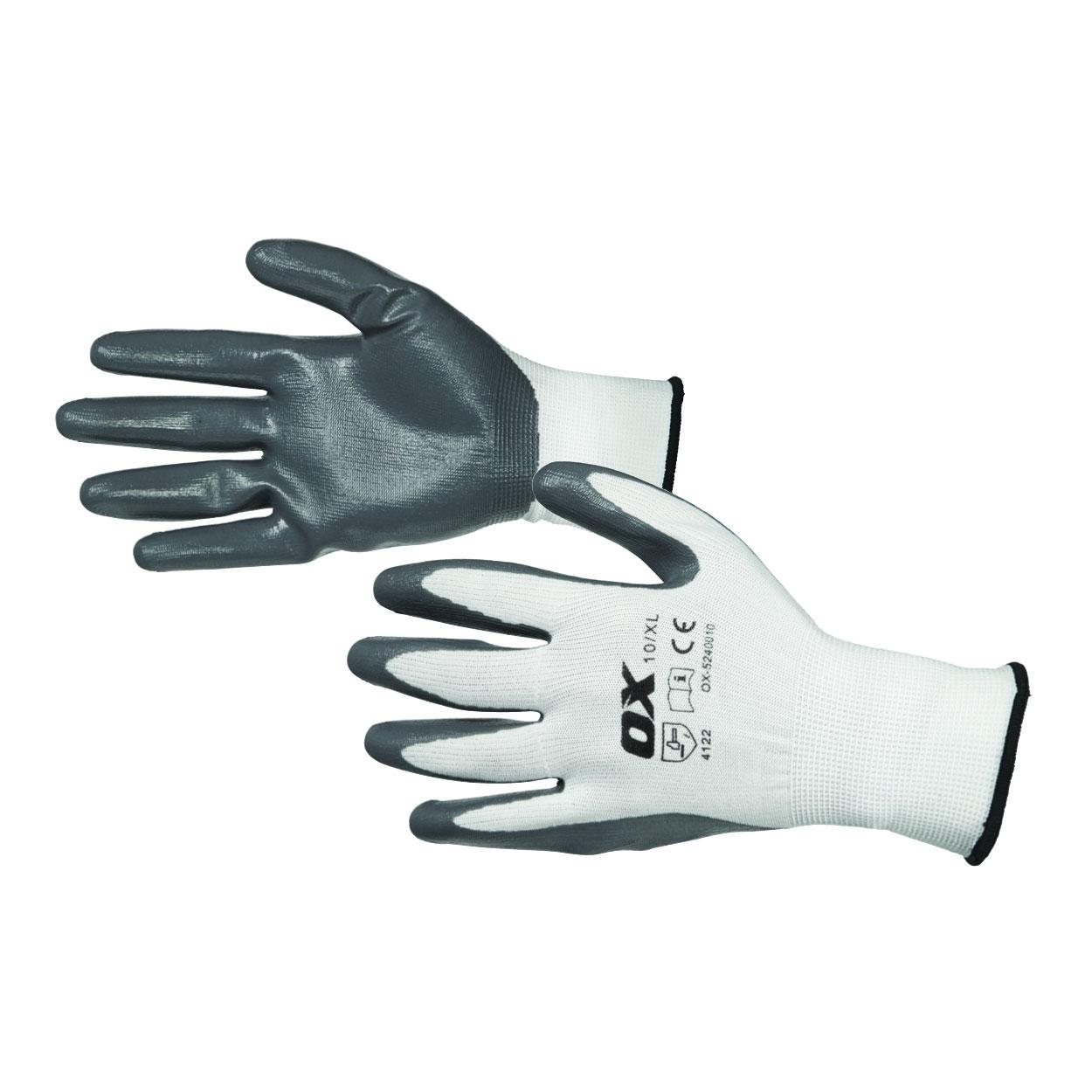 Nitril Flex-handskar OX Tools Storlek 10