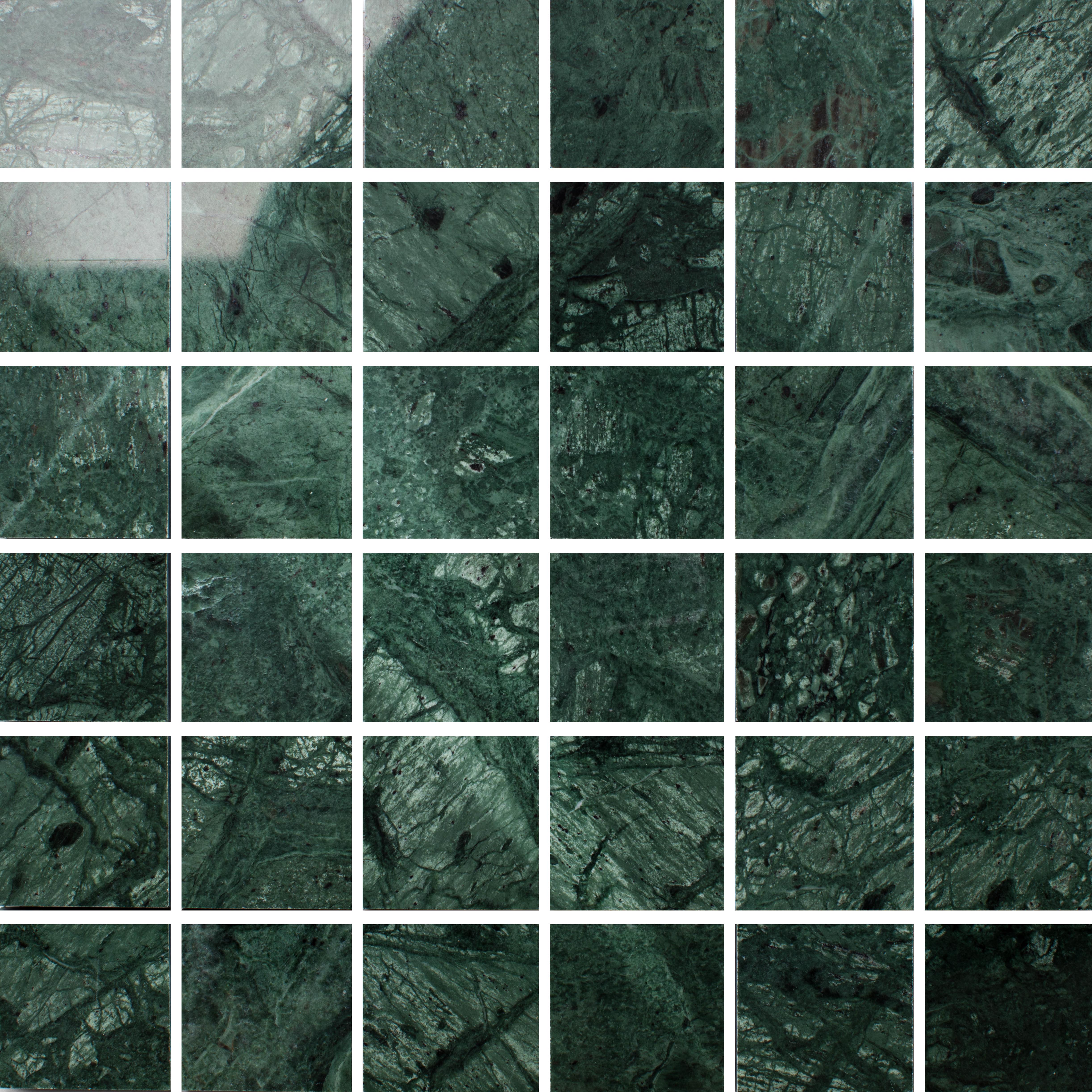 Marmor Arredo Verde Guatemala Polished 5x5 cm
