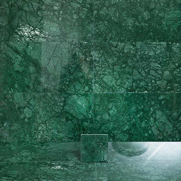 Marmor Arredo Verde Guatemala Polerad 15x15 cm