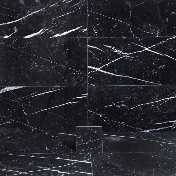 Marmor Arredo Nero Marquina Polerad 15x15 cm