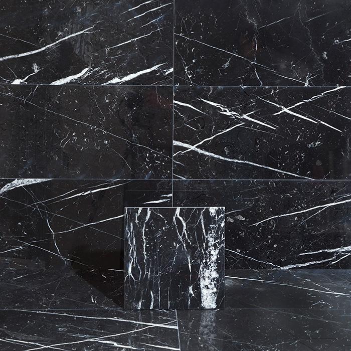 Marmor Arredo Nero Marquina Polerad 30×30 cm