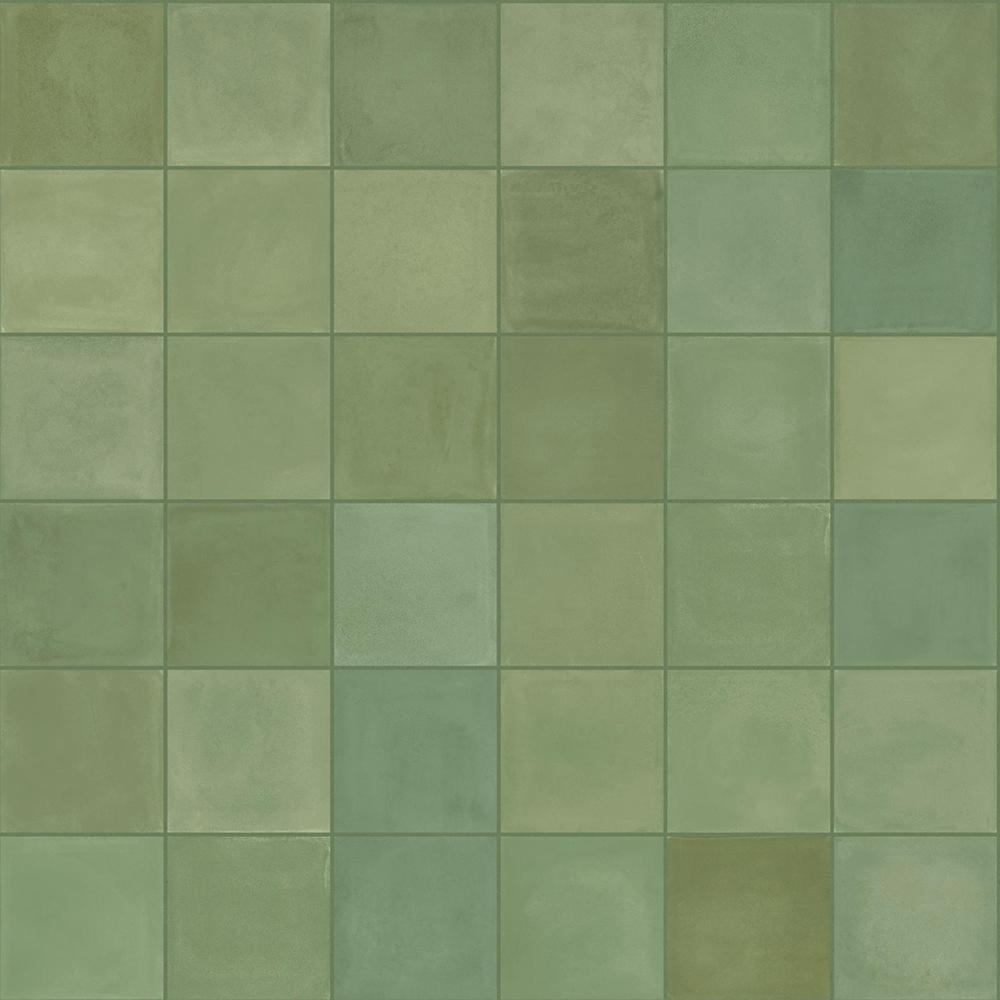 Klinker Marazzi D Segni Blend Verde 10x10 cm