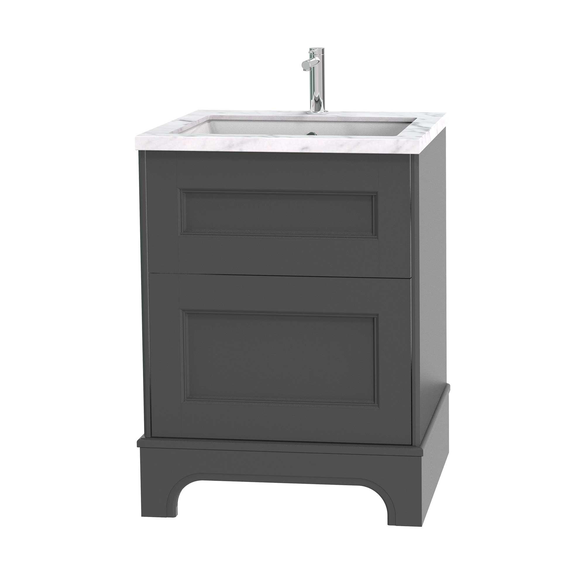 Tvättställsskåp Miller Badrum Kensington 60 med Lådor med Sockel för Bänkskiva
