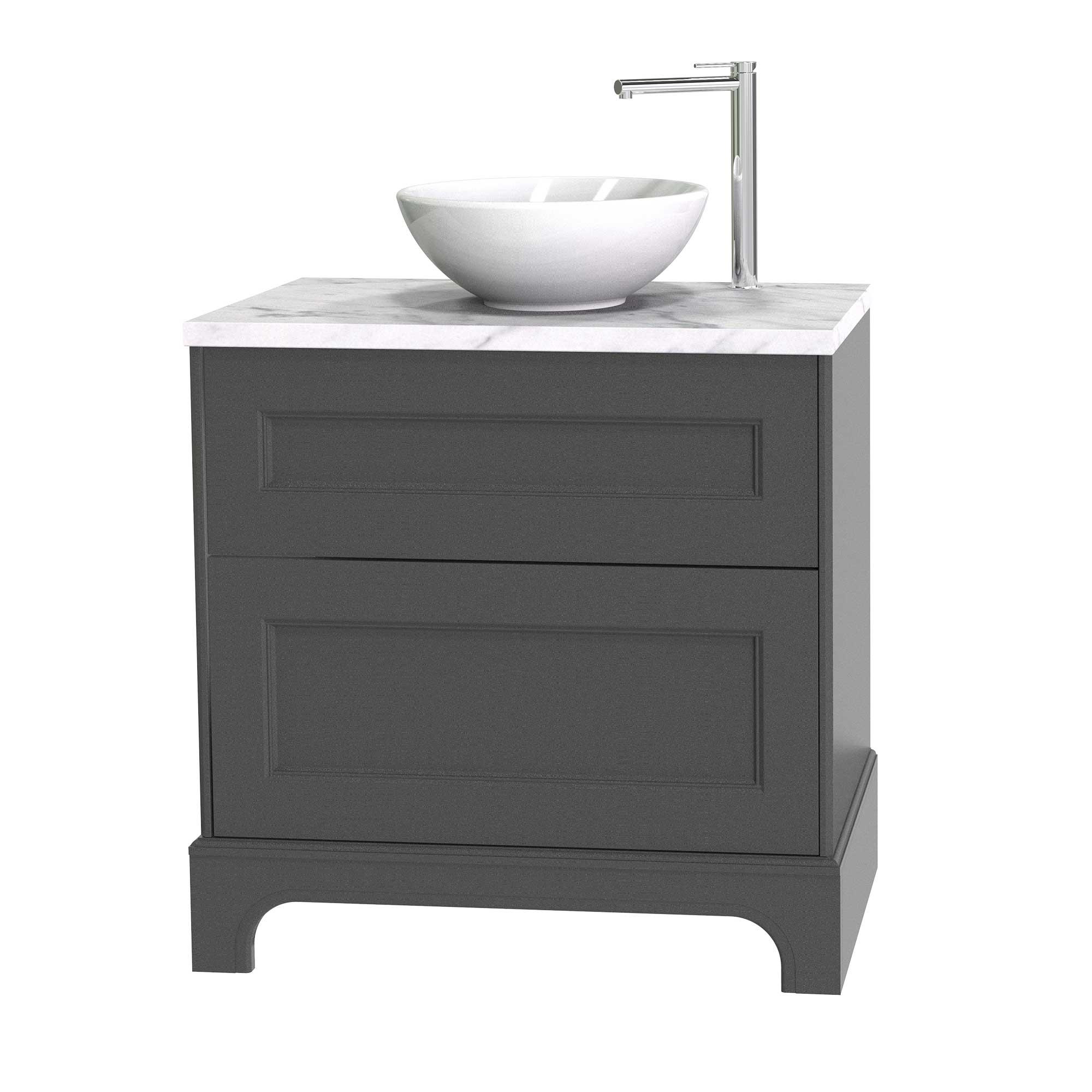 Tvättställsskåp Miller Badrum Kensington 80 med Lådor med Sockel för Bänkskiva