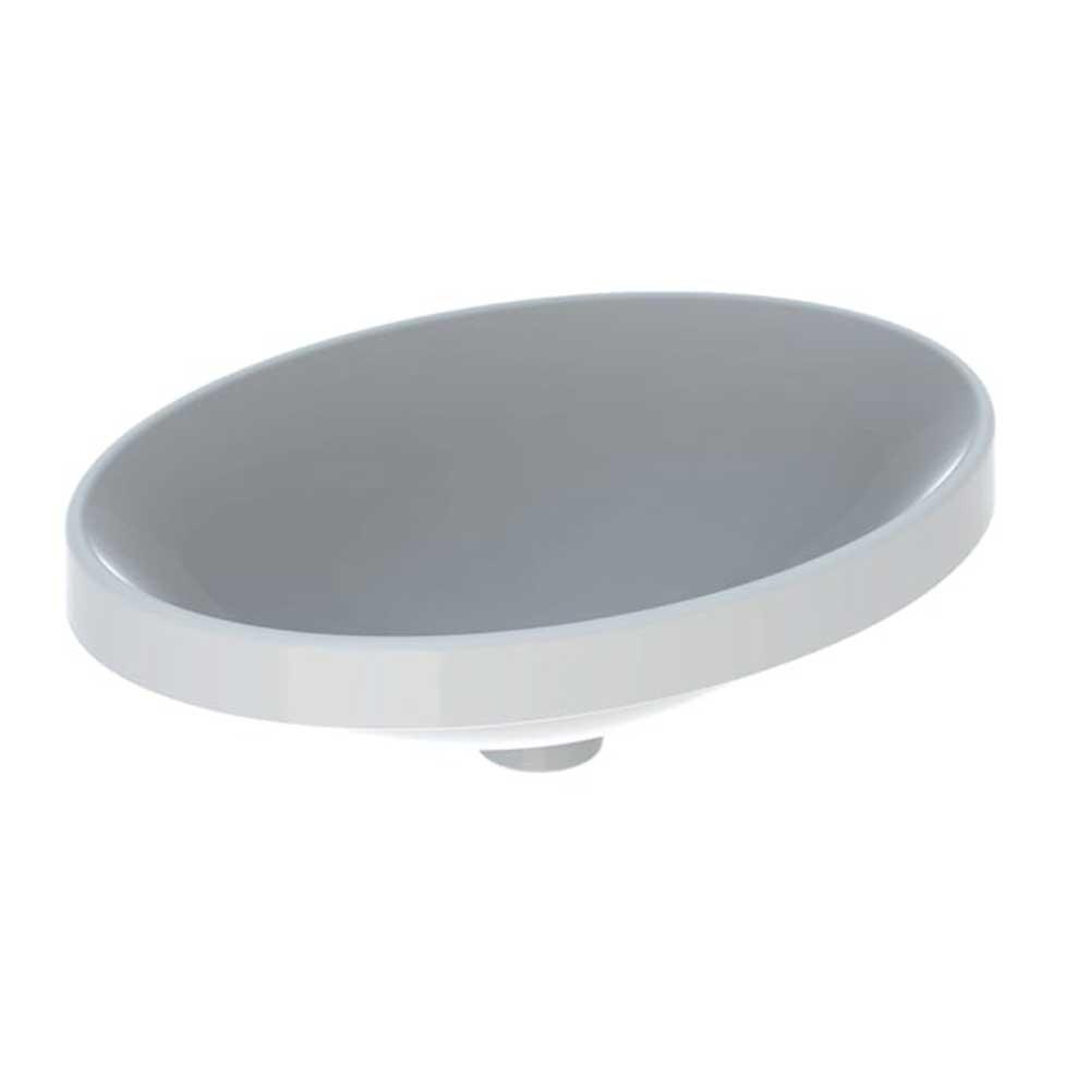 Tvättställ Geberit Variform 500 mm Infälld Ovalt