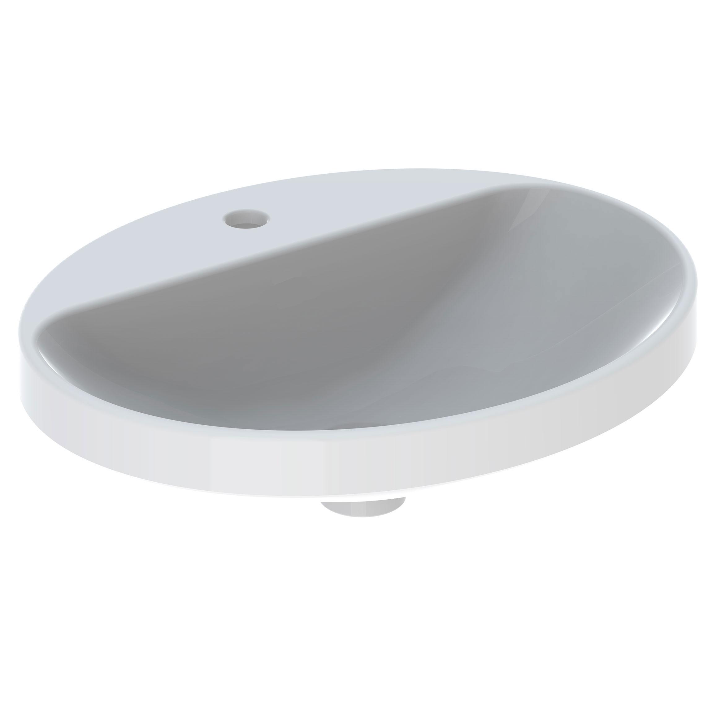 Tvättställ Geberit Variform 550 mm Infälld Ovalt Kanthylla