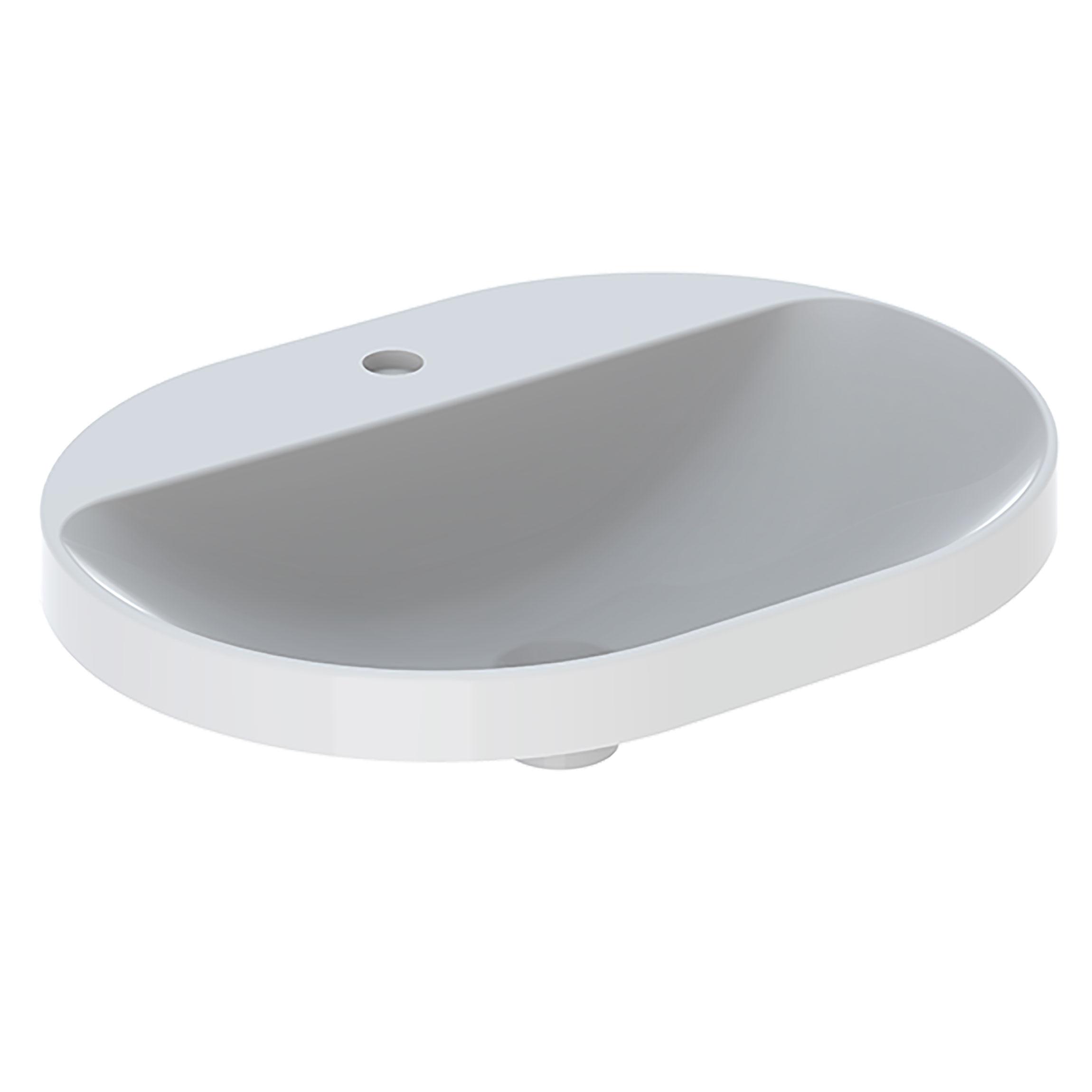Tvättställ Geberit Variform 600 mm Infälld Elliptiskt Kanthylla