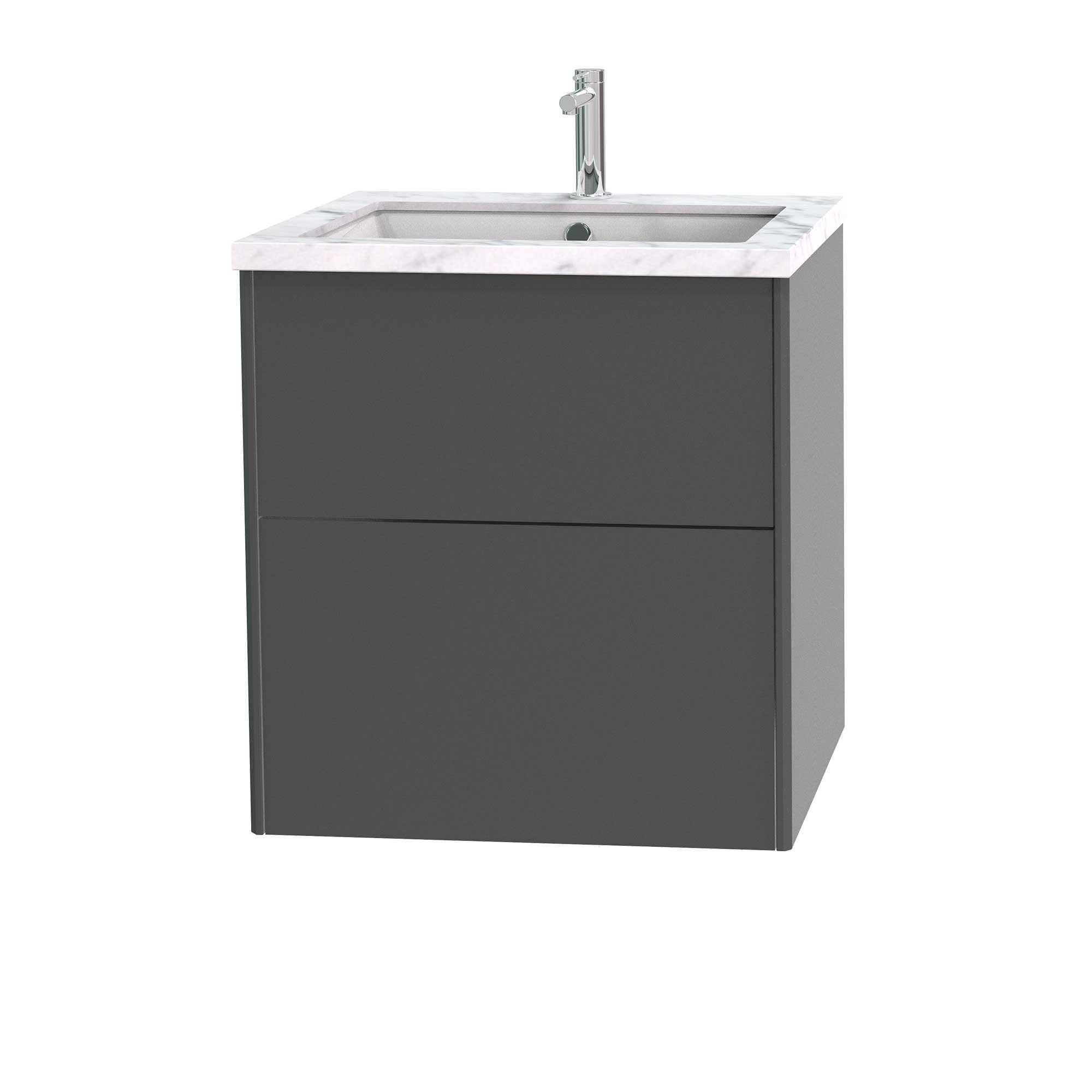 Tvättställsskåp Miller Badrum Brooklyn 60 med Lådor för Bänkskiva