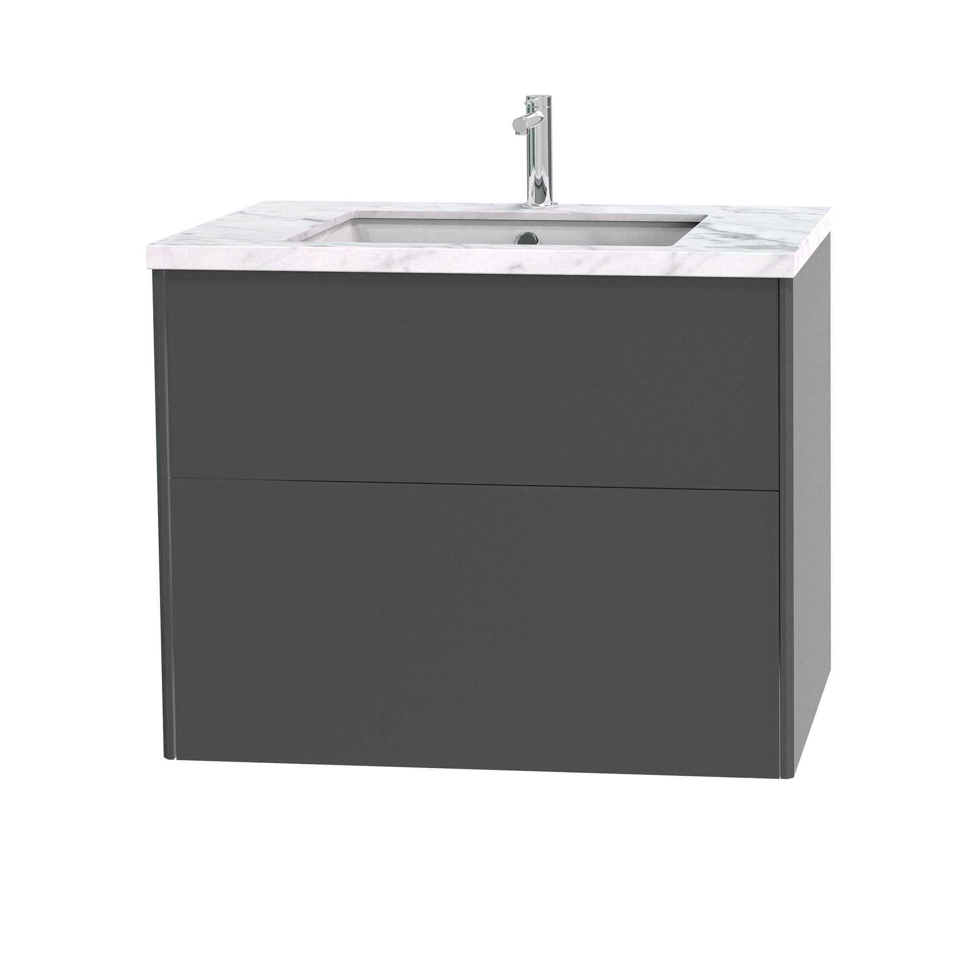Tvättställsskåp Miller Badrum Brooklyn 80 med Lådor för Bänkskiva