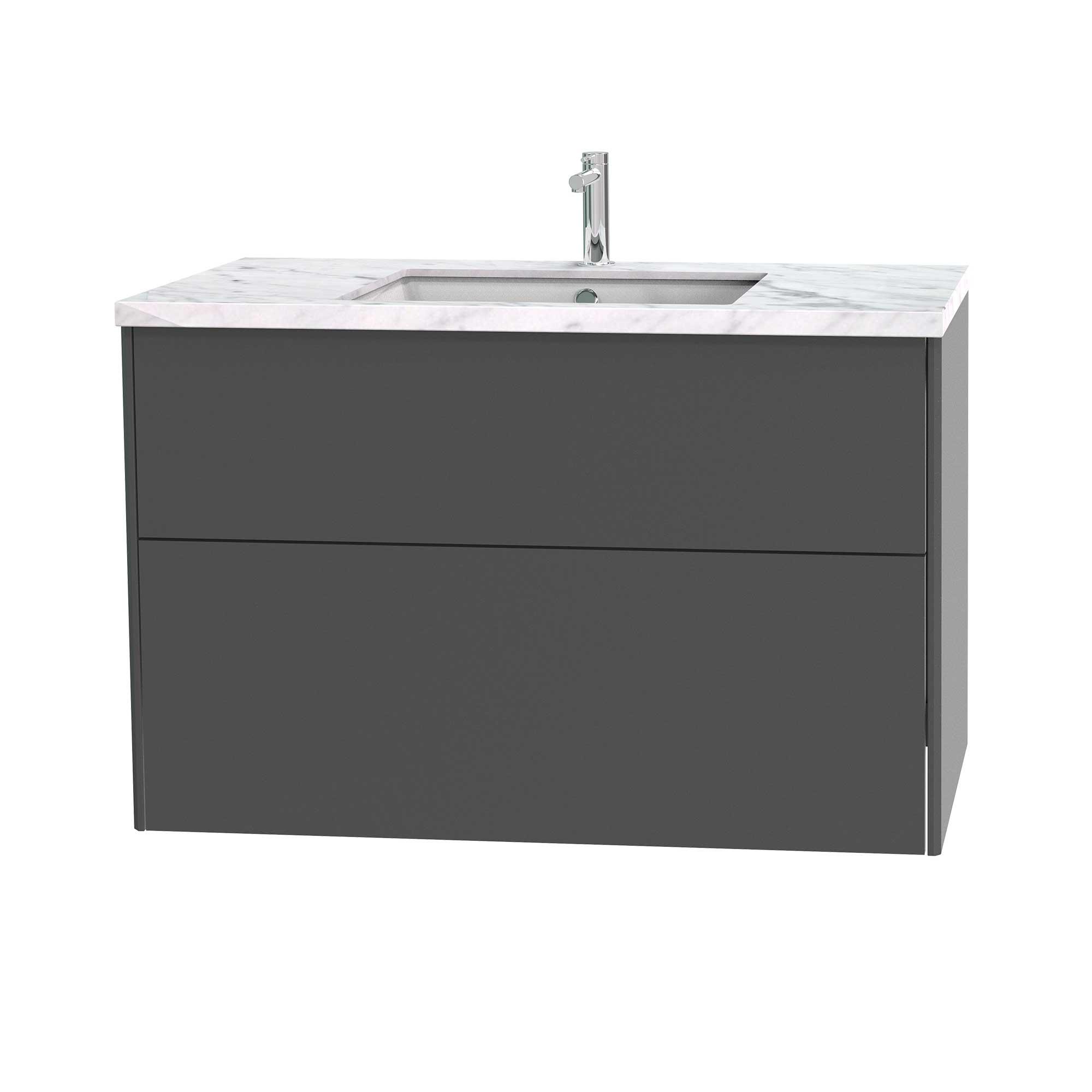 Tvättställsskåp Miller Badrum Brooklyn 100 med Lådor för Bänkskiva