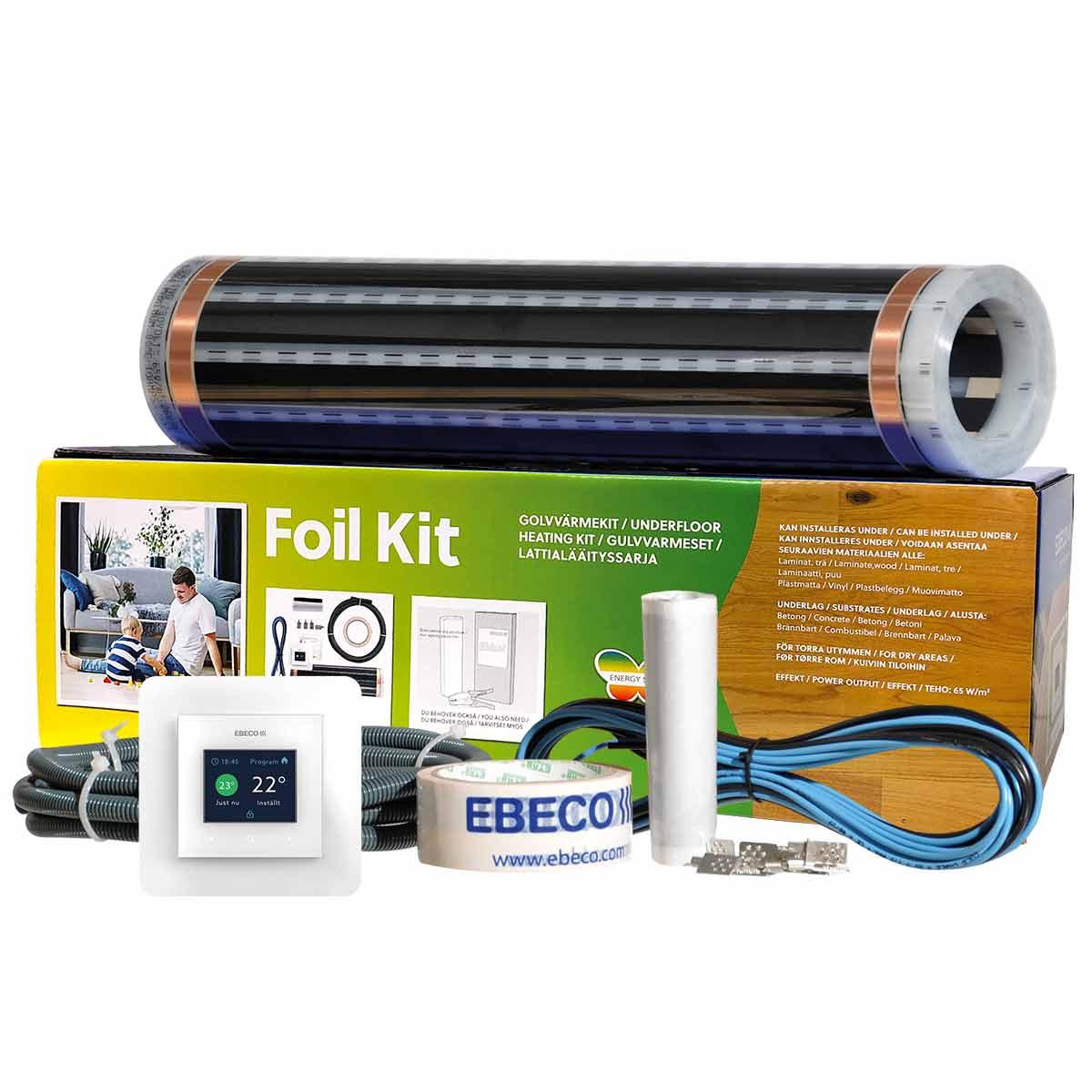 Golvvärmefolie Ebeco Foil Kit för Trä- och Laminatgolv 43 cm