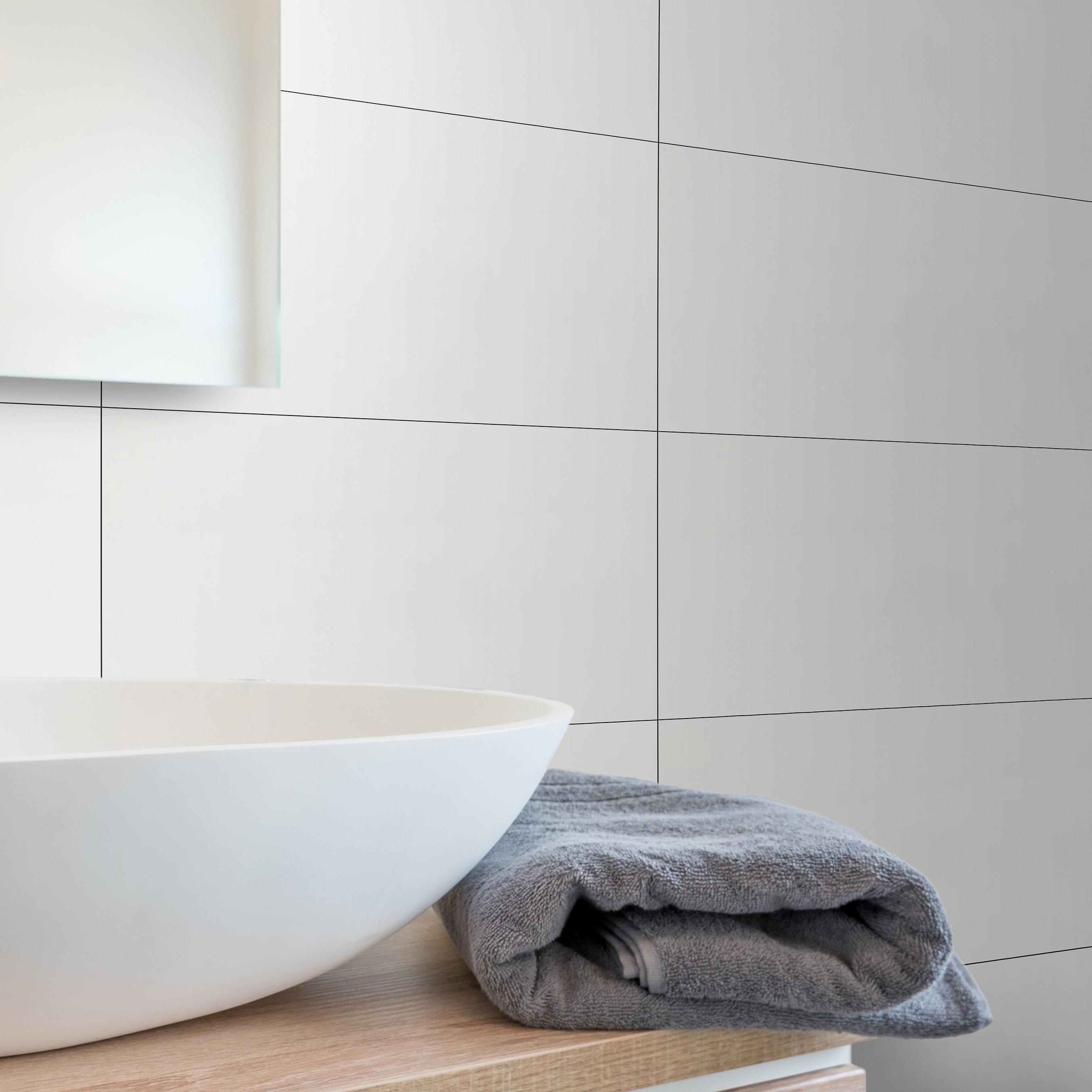 Kakel Different White Glossy 250×450 mm