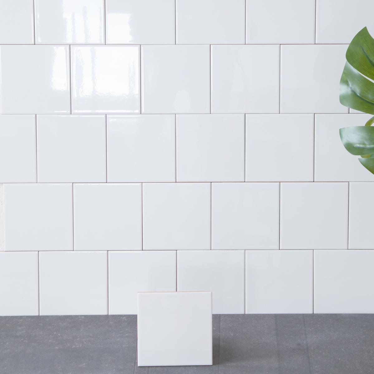 Kakel Color Pure White Blank 10×10 cm