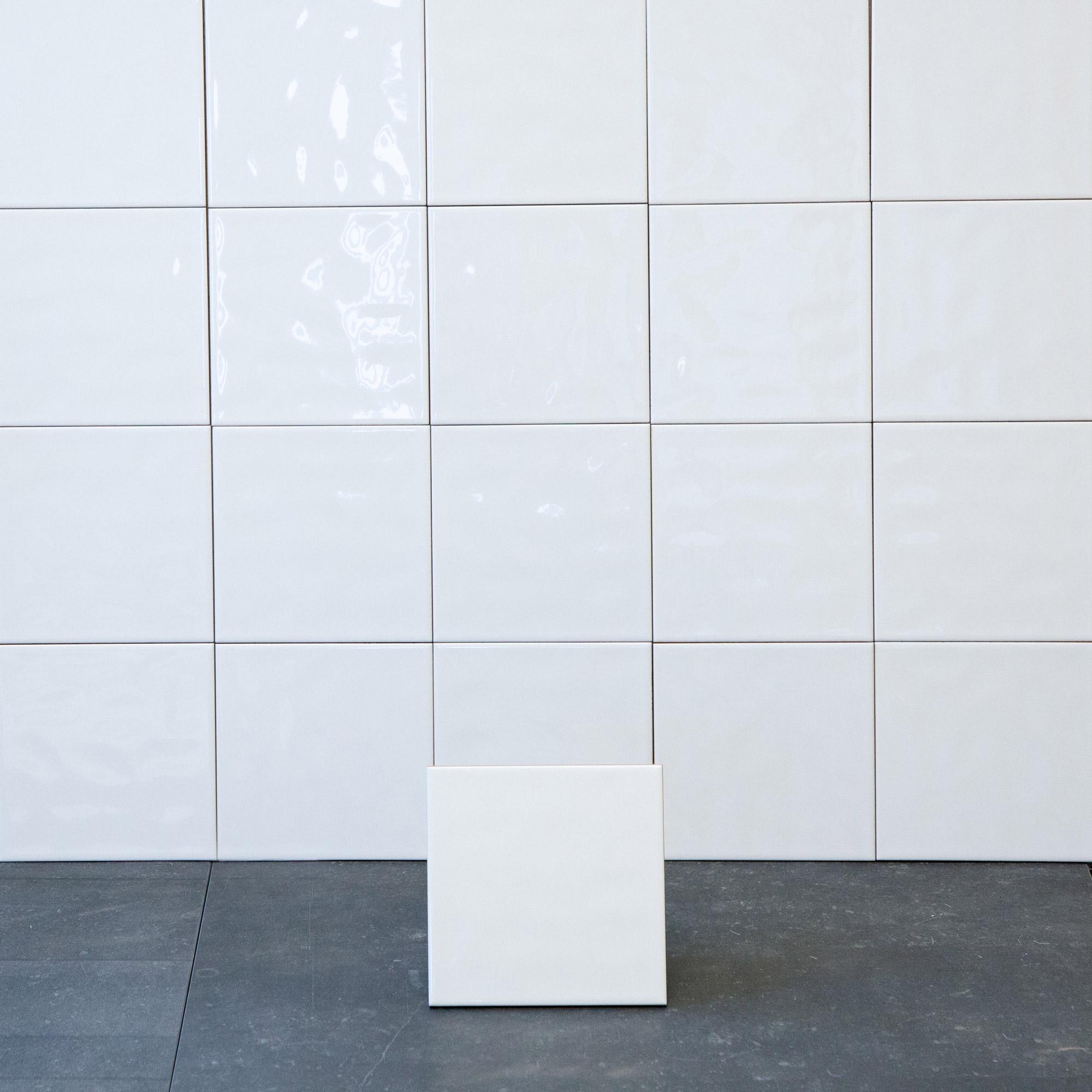 Kakel Color Vit Vågig Blank 15X15 cm