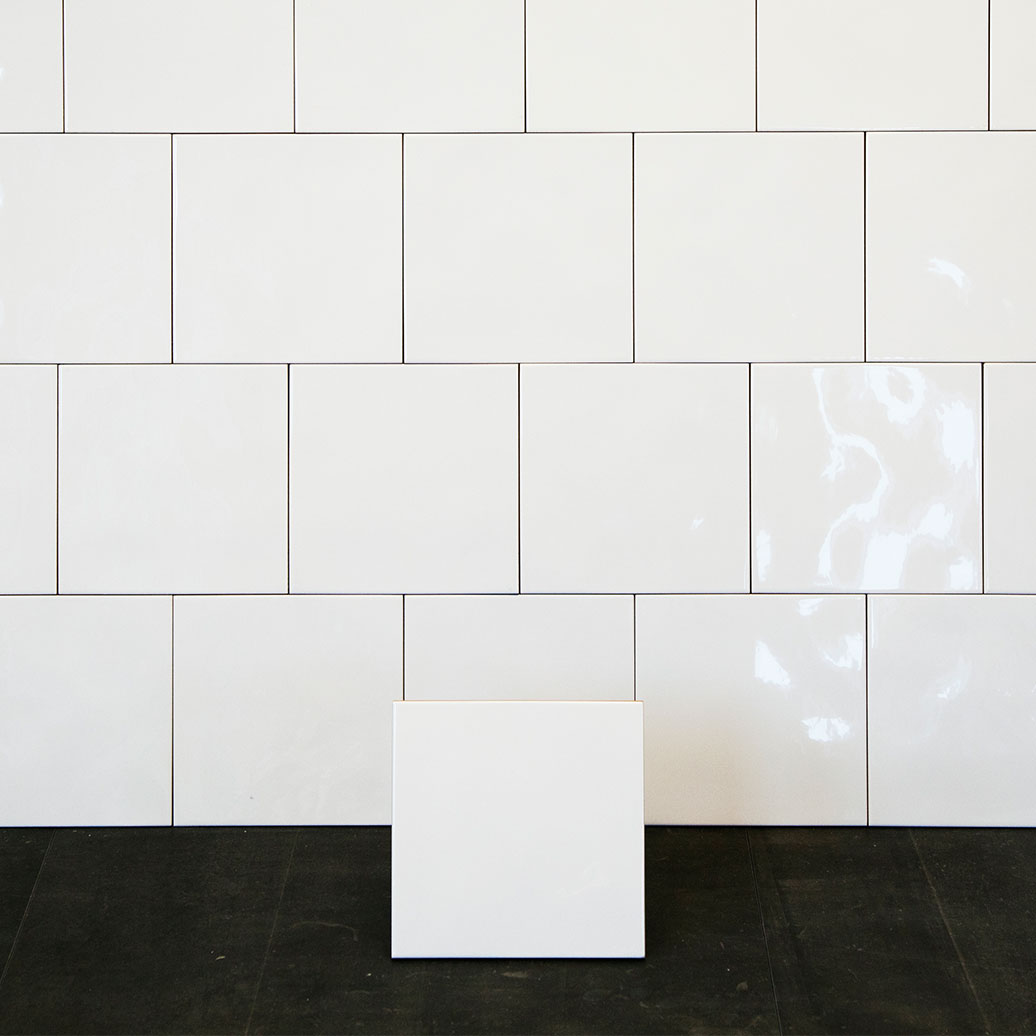 Kakel Color Vit Vågig Blank 20×20 cm