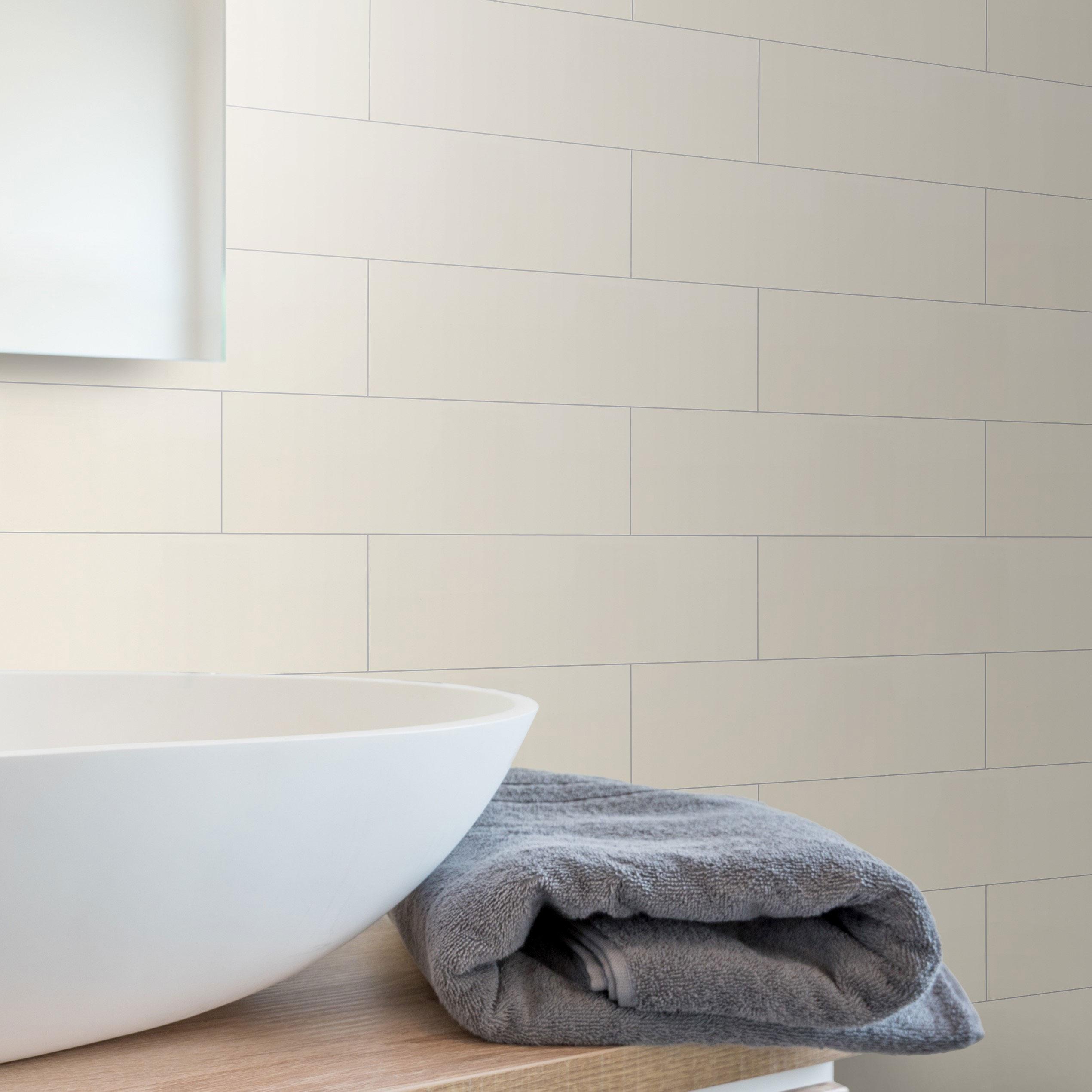 Kakel Arredo Color Alabaster Blank 10×30 cm