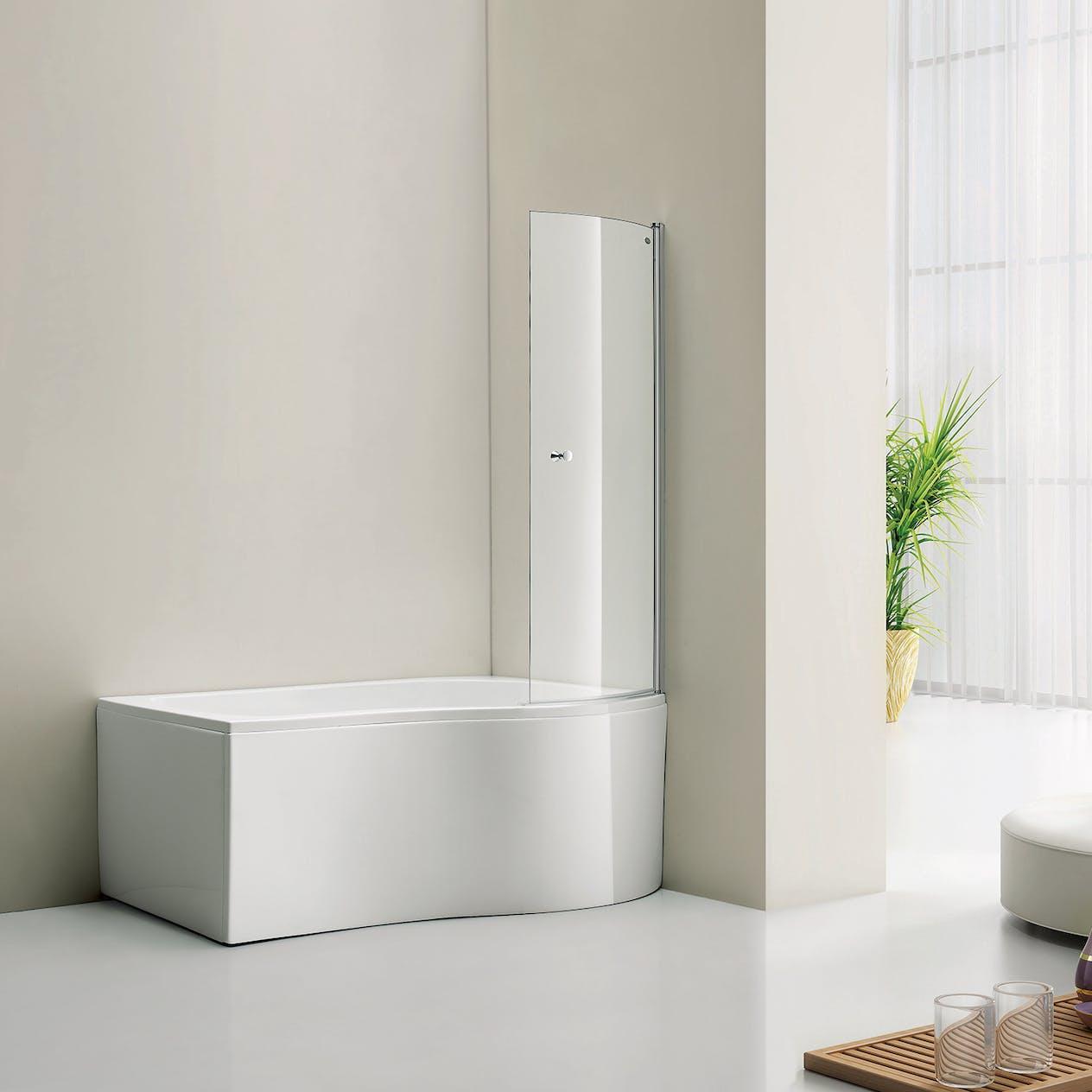 Ekstra Badekar Bathlife Ideal Comfort med Dusjvegg Form STR514116 EY-69