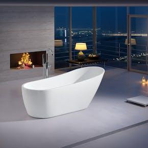 Badekar Bathlife Ideal Design Frittstående Hvit