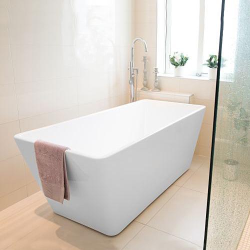 Badkar Bathlife Ideal Fristående Rakt Vit