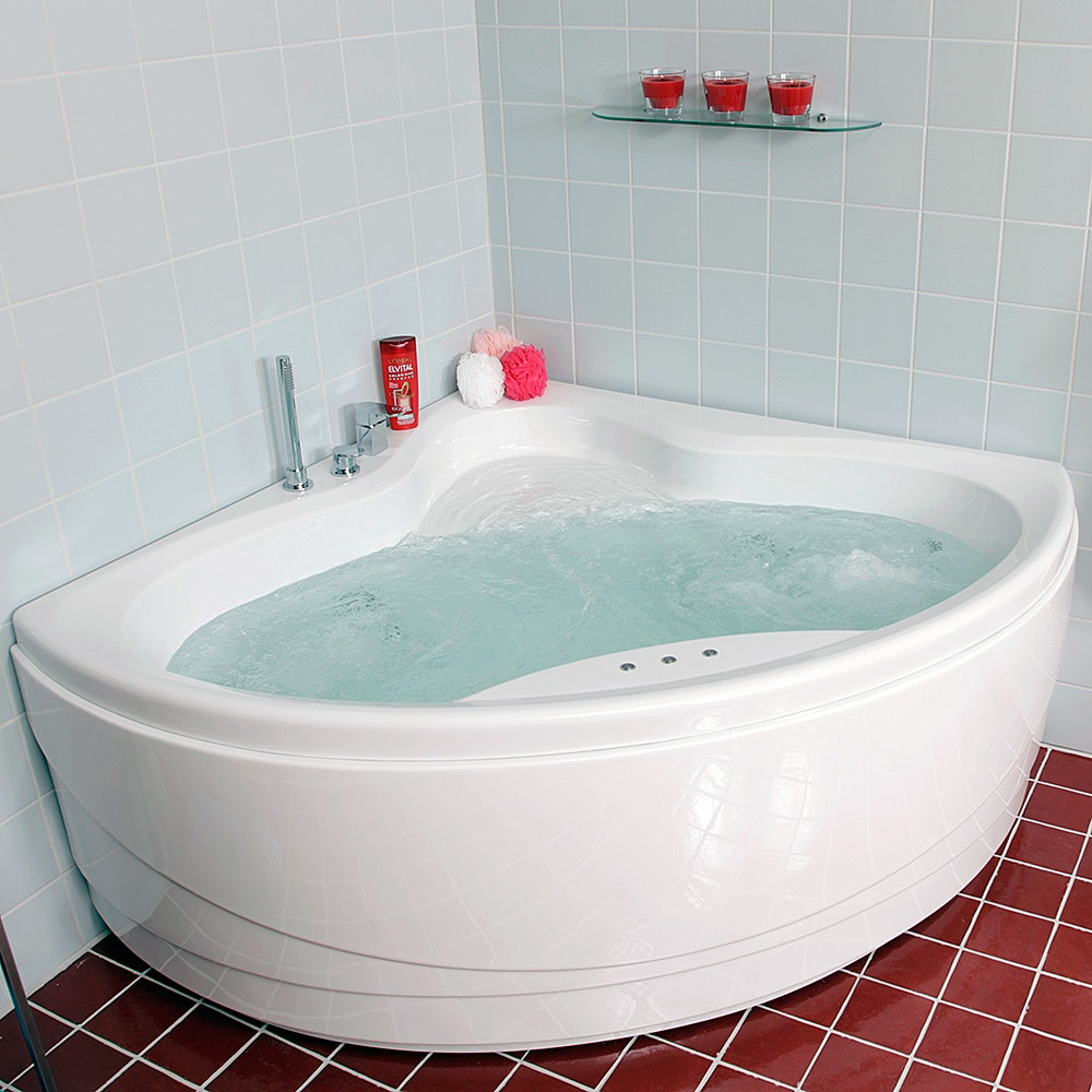 hörnbadkar 140 utan bubbel