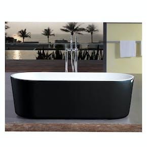 Badekar Bathlife Ideal Frittstående Sort
