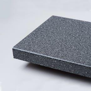 Benkeplate Fibo Laminat Sort Granitt 125