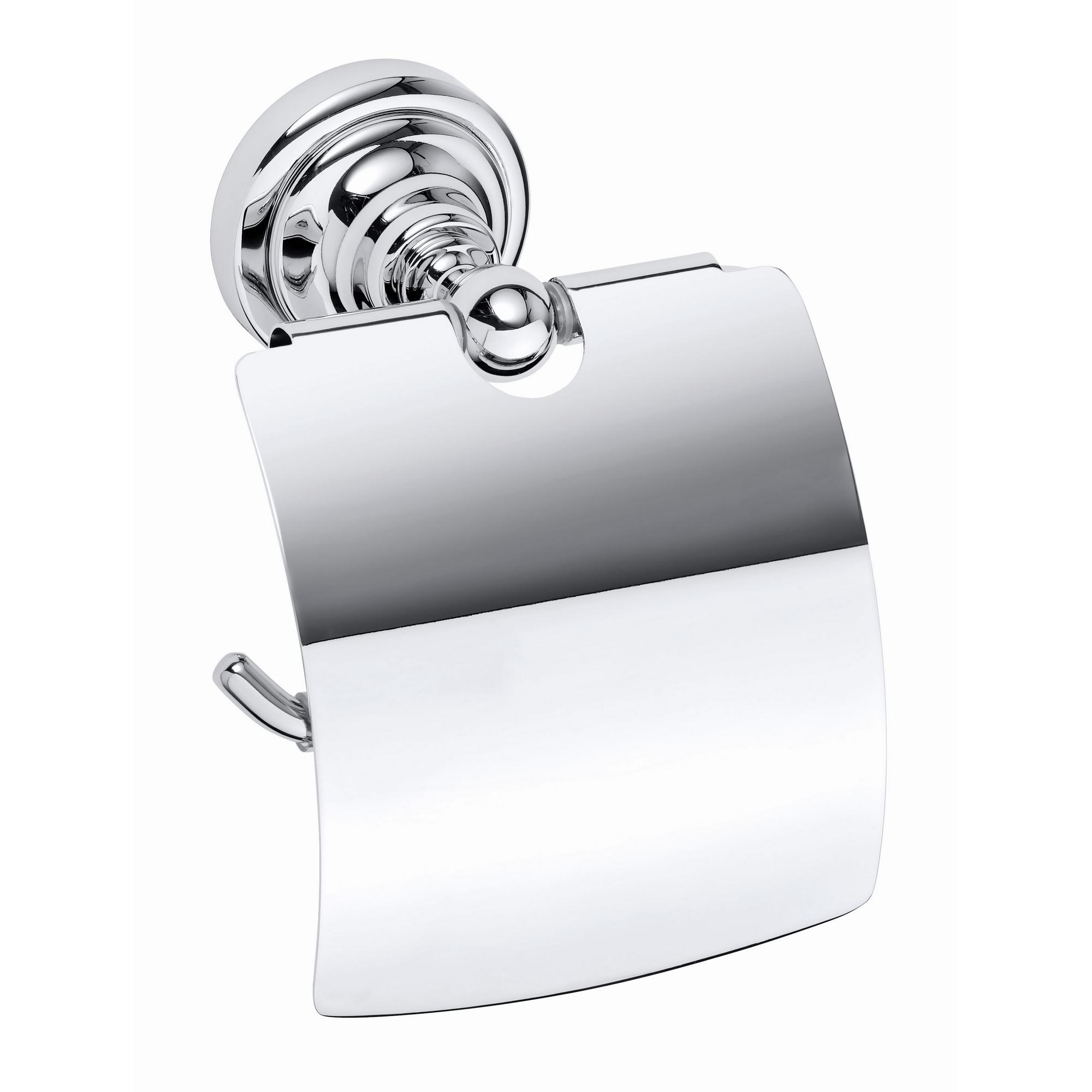 Toalettpappershållare Duschbyggarna Classic med Lock