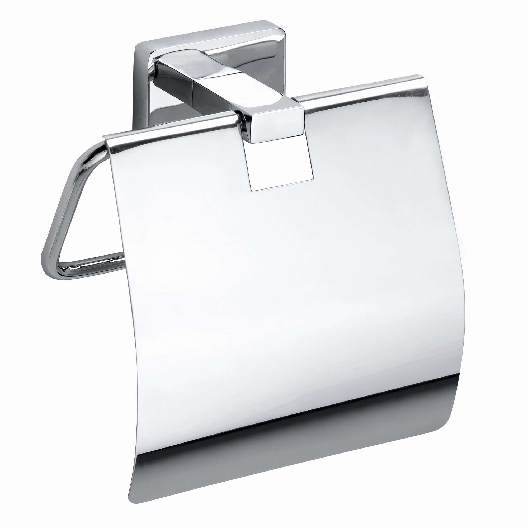 Toalettpappershållare Duschbyggarna Angle med Lock