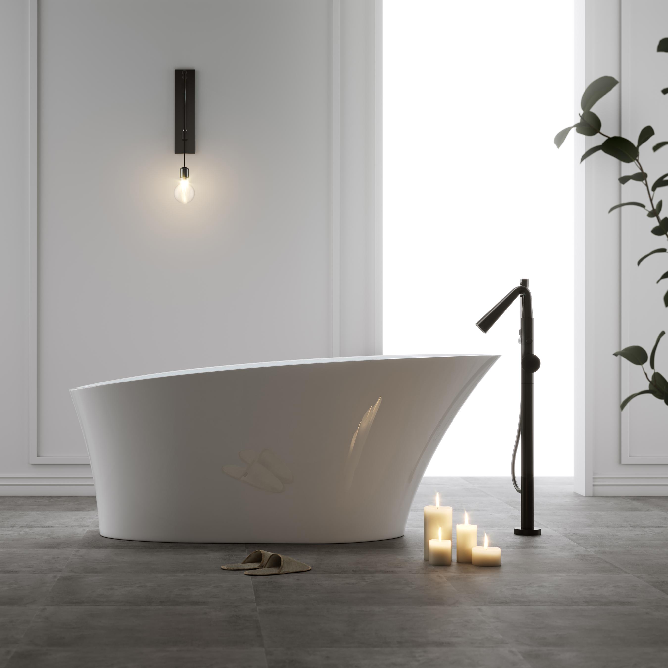 Badkar Bathlife Chic Fristående Vit