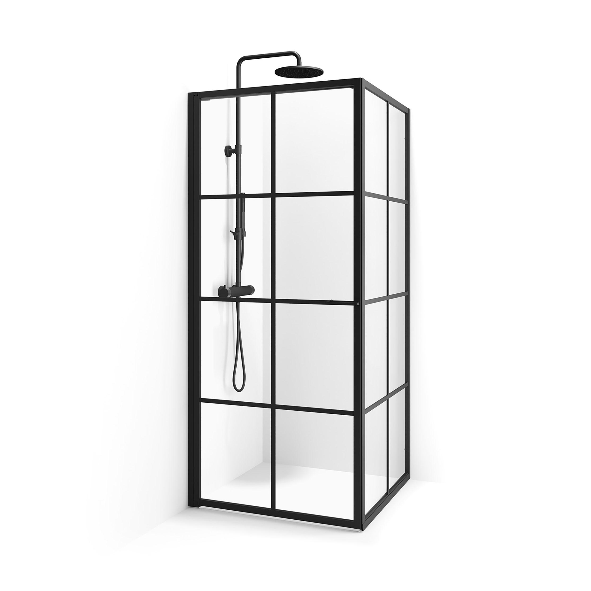 Duschhörn Macro Design Empire Swing Svart Klarglas Med Spröjs